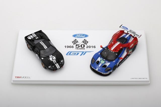 TSM MODEL 1/43 フォード GT ル・マン50周年記念セット:フォード GT40 1966 #2 / フォード GT 2016 #68