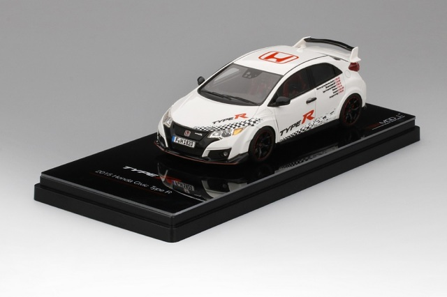 "TSM MODEL 1/43 Honda シビック タイプ R 2016  ""Five European Tracks Front-Wheel Drive Record"""