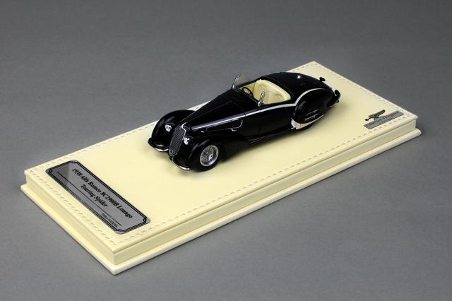 Collection d'Elegance 1/43 アルファロメオ 1938 8C 2900B ルンゴ カロッツェリアツーリング スパイダー ブラック
