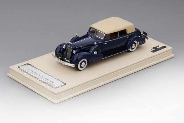 Collection d'Elegance 1/43 キャデラック V16 コンバーチブル セダン フリートウッド 1934 ダークブルー