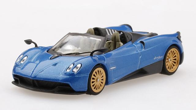 MINI GT 1/64 パガーニ ウアイラ ロードスター ブルーフランシア (左ハンドル)
