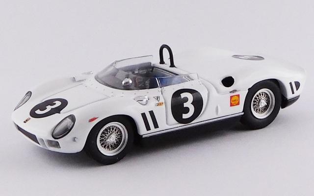 ART MODEL 1/43 フェラーリ 330 P カナダ モスポート GP 1964 #3 L,Scarfiotti シャーシNo.0818 RR:2nd