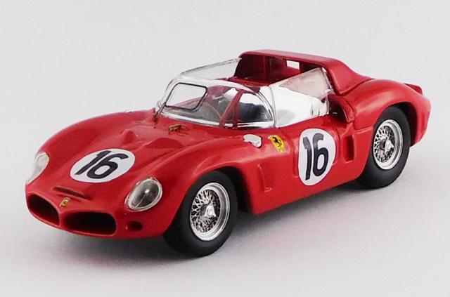 ART MODEL 1/43 フェラーリ 268 DINO SP ル・マン24時間 テスト 1962 #16 Rodriguez / Bandini / Parkes / Gendebien / Mairesse シャーシNo.0798