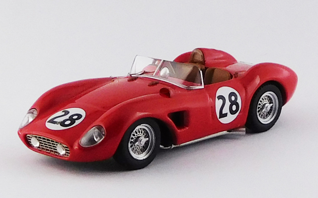 ART MODEL 1/43 フェラーリ 500 TRC セブリング12時間 1957 #28 Hively / Ginther シャーシNo.0668 R.R.10th, S2,0 クラス優勝車