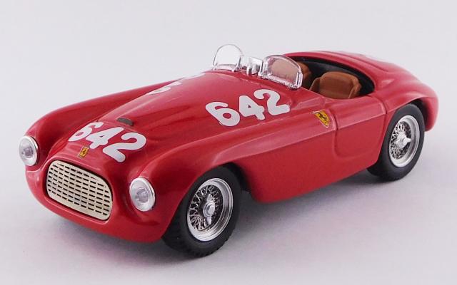 ART MODEL 1/43 フェラーリ 166 MM バルケッタ ミッレミリア 1949 #642 Taruffi/Nicolini シャーシNo.0010