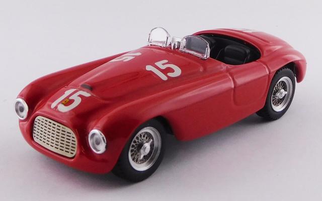 ART MODEL 1/43 フェラーリ 166 MM バルケッタ ルクセンブルクGP,Findel 1949 #15 Luigi Villoresi シャーシNo.0016 優勝車