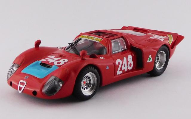 BEST MODEL 1/43 アルファロメオ 33.2 タルガフローリオ 1969 #248 Pinto/Alberti