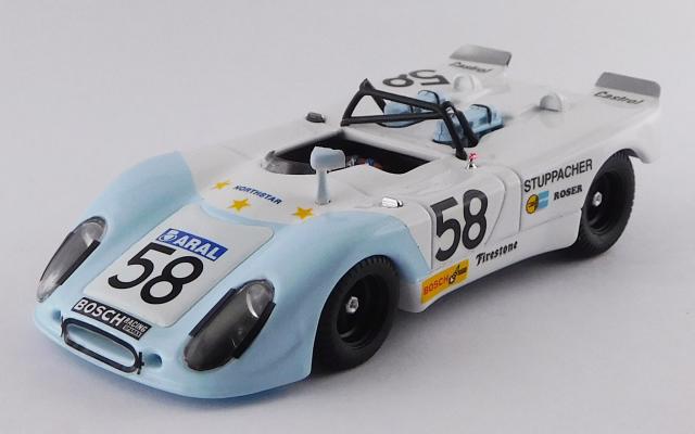 BEST MODEL 1/43 ポルシェ 908/02 FLUNDER ル・マン24時間 1972 #58 Stuppacher/Roser D.N.F.