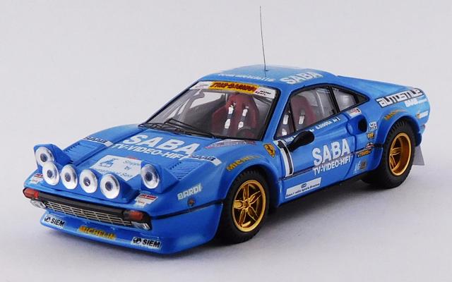 BEST MODEL 1/43 フェラーリ 308 GTB ミッレミリアラリー 1983 #1 Busseni/Ciocca 優勝車