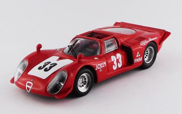 BEST MODEL 1/43 アルファロメオ 33.2 スパイダー リオデジャネイロ3時間レース 1969 #33 carlos Pace 優勝車