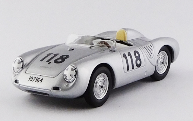 BEST MODEL 1/43 ポルシェ 550 RS タルガ フローリオ 1959 #118 Mahle / Strähle / Linge R.R.2nd