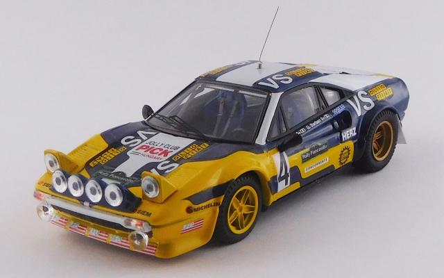 "BEST MODEL 1/43 フェラーリ 308 GTB Gr.4 ピアンカヴァッロ ラリー 1980 #4 ""Nico""/Barban 優勝車"