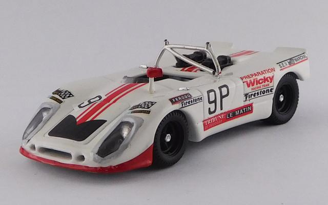 BEST MODEL 1/43 ポルシェ 908/02 FLUNDER ニュルブルクリンク1000km 1971 #9 Wicky/Cabral - 10位