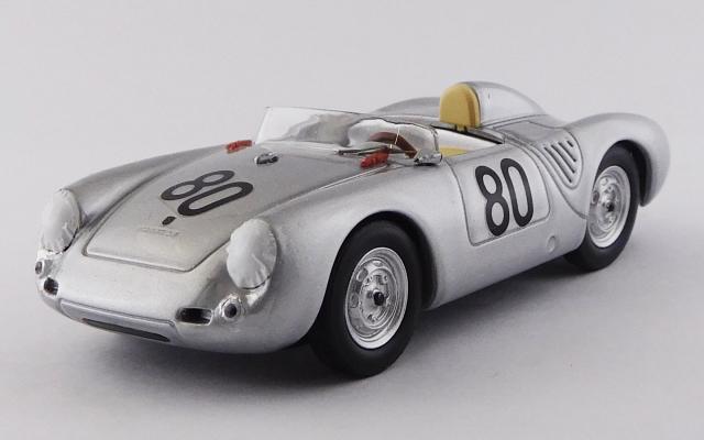 BEST MODEL 1/43 ポルシェ 550 RS タルガフローリオ 1958 #80 Scarlatti/Barth
