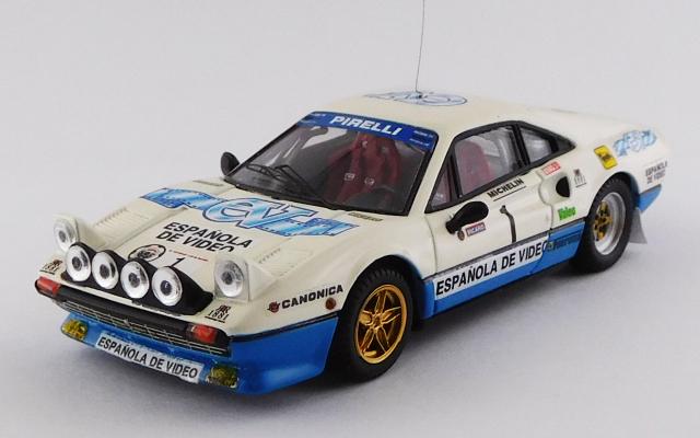 BEST MODEL 1/43 フェラーリ 308 GTB Critèrium Luis de Baviera 1984 #1 Zanini/Autet 優勝車
