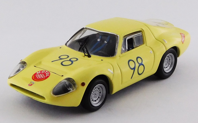 BEST MODEL1/43 アバルト 1300 OT タルガフローリオ 1967 #98 Garufi/Ferlito S1.3クラス優勝車