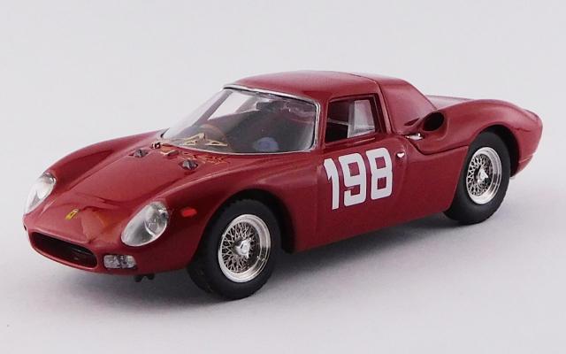 BEST MODEL 1/43 フェラーリ 250 LM F.I.S.A.カップ/モンツァ 1966 #198 E.Lualdi 優勝車