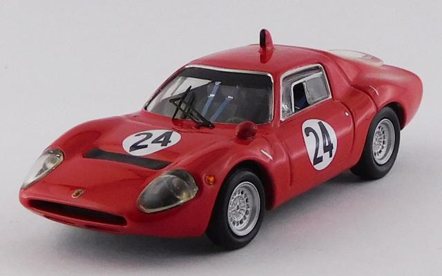 BEST MODEL 1/43 アバルト 1300 OT トレント ボンドーネ 1968 #24 Karl Federhofer 優勝車