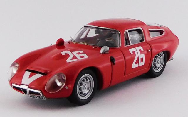 BEST MODEL 1/43 アルファロメオ TZ1 モンツァ 1000km 1965 #26 Pianta/Sala