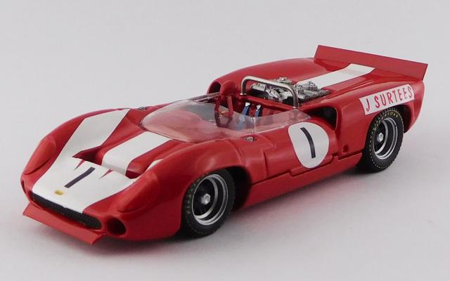 BEST MODEL (ベストモデル) 1/43 ローラ T70 Mk.2 スパイダー ガーズトロフィー ブランズハッチ 1966 #1 John Surtees 優勝車
