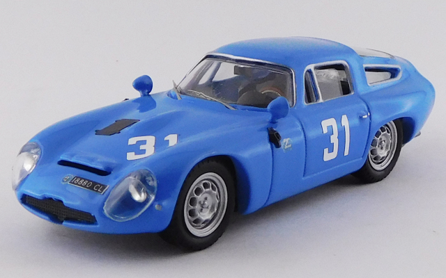 BEST MODEL 1/43 アルファロメオ TZ1 モンツァ 1000km 1965 #31 Panepinto/Facetti