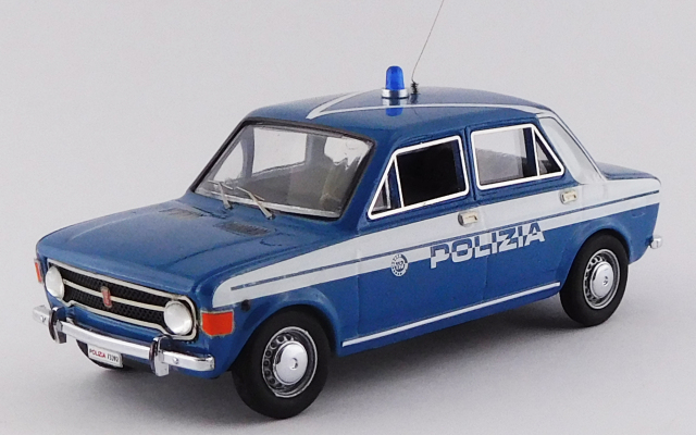 RIO 1/43 フィアット 128 4ドア 1970 ストラダーレ 警察車両 ブルー