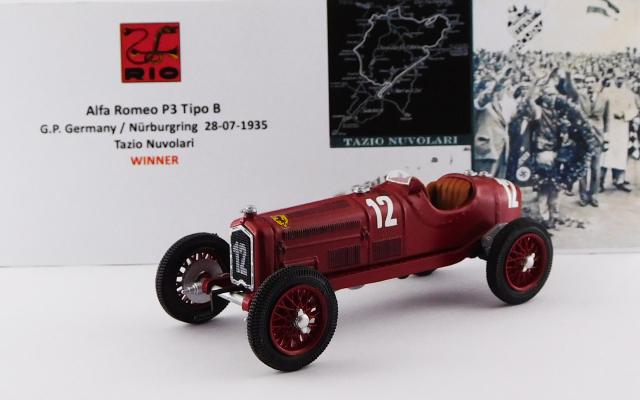 RIO 1/43 アルファロメオ P3 TIPO B ドイツGP ニュルブルクリンク 1935 #12 Tazio Nuvolari 優勝車
