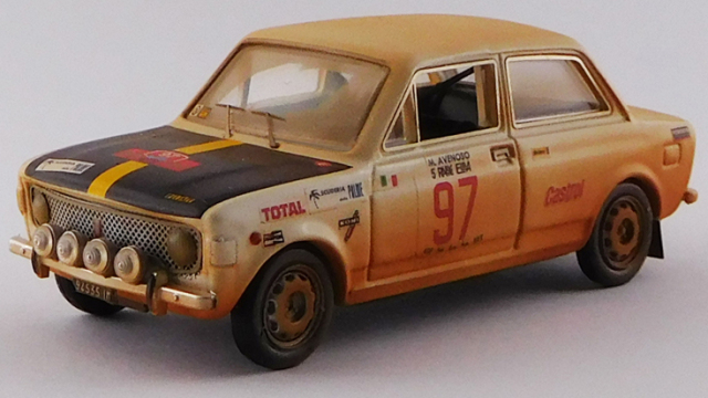 RIO 1/43 フィアット 128 ラリー Rally dell'Isola D'Elba 1972 Avenoso/Dinunzio ウェザリング塗装