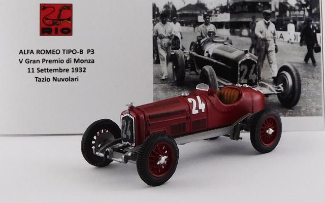 RIO 1/43 アルファロメオ P3 V Gran Premio di Monza 1932 #24 Tazio Nuvolari