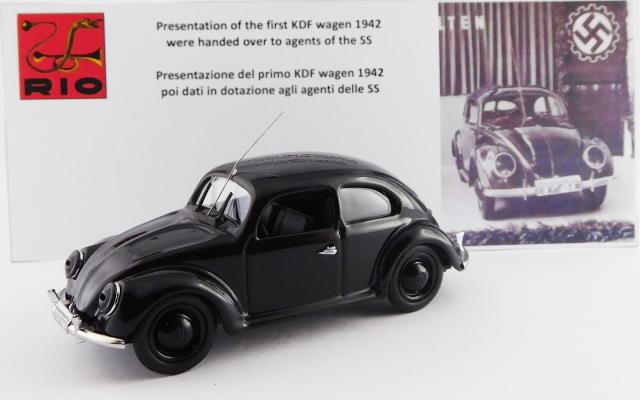 RIO 1/43 フォルクスワーゲン ビートル kdfワーゲン納車1号車 1942