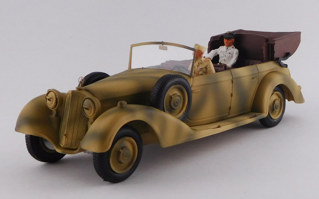 RIO 1/43 メルセデス 770 アフリカ師団 1941 ロンメル&ドライバー フィギュア付き 迷彩色