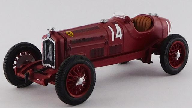 RIO 1/43 アルファロメオ P3 TIPO B Gran Premio di Pau 1935 #14 Tazio Nuvolari 優勝車