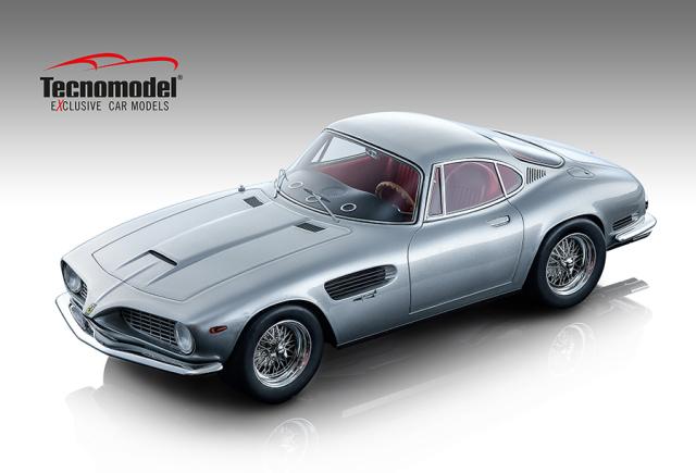 TECNOMODEL 1/18 フェラーリ 250 GT SWB ベルトーネ 1962 メタリックシルバー トリノ自動車見本市