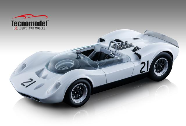 TECNOMODEL 1/18 マクラーレン エルヴァ Mk. I ブランズハッチ 1965 #21 Graham Hill