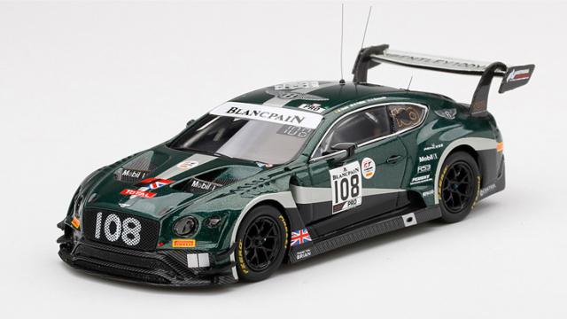 TSM MODEL 1/43 ベントレー コンチネンタル GT3 トータル スパ24時間 2019 #108 ベントレーチーム Mスポーツ