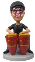 ボンゴアーティスト 男性用オリジナルフィギュア 音楽家