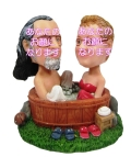 混浴カップル 男女セットオリジナル首ふりフィギュア お風呂