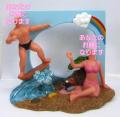ビーチカップル 男女セットオリジナル首ふりフィギュア 海