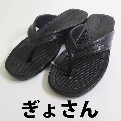 PEARL(パール)/ギョサン 【ぎょさん】 メンズ/ブラック ビーチサンダル