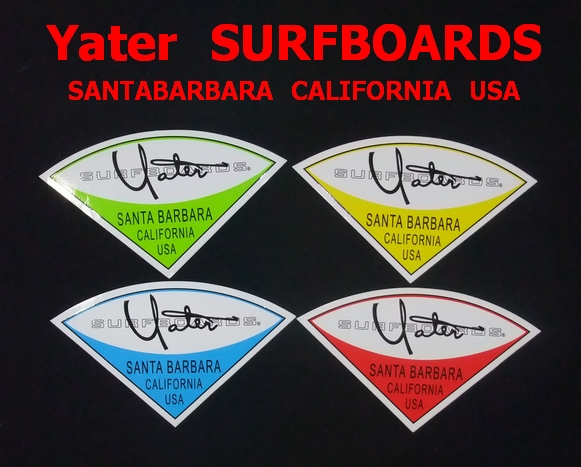 Yater SURFBOARDS SANTABARBARA CALIFORNIA USA (イェーター)ステッカー