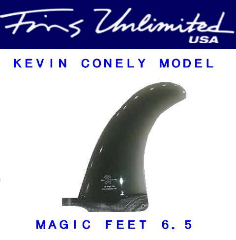 FU FIN【FINS UNLIMITED】 KEVIN CONNELY【ケヴィンコネリー】 MAGIC FEET 6.5インチ 【スモーク/ティント】