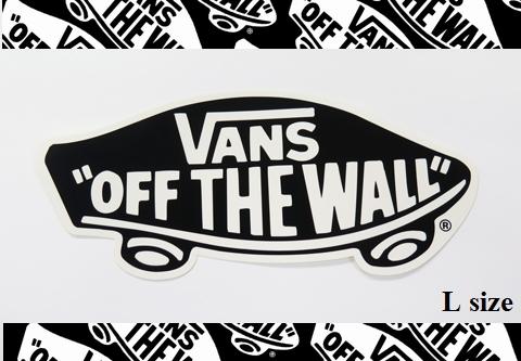 VANS(バンズ) ステッカー OFF THE WALL BLACK/Lサイズ