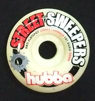 hubba 【フーバ】 スケートボード【ウィール】 52mm STEEERT SWEEPERS/レッド