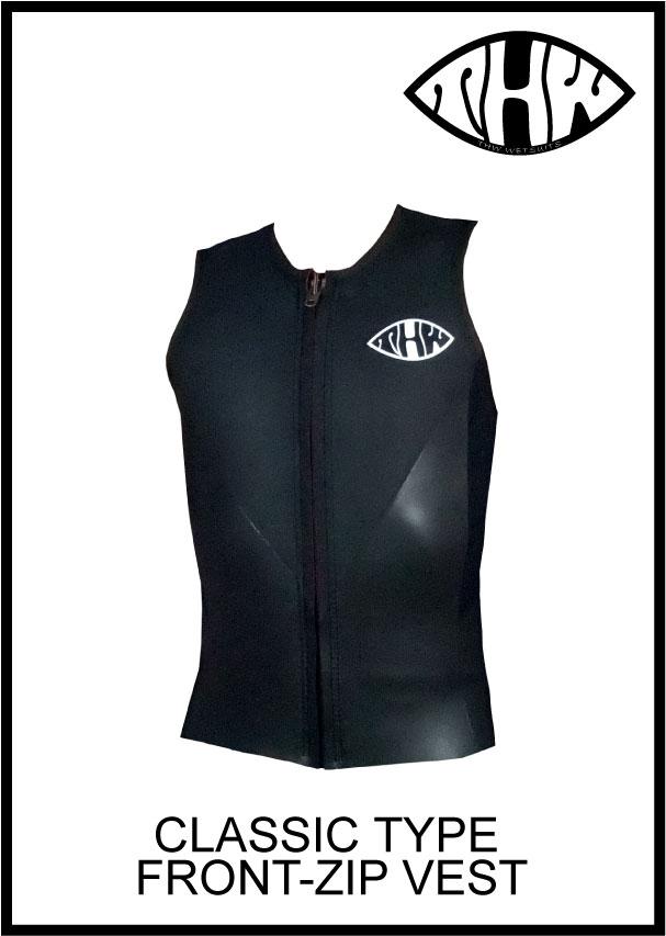 【簡単オーダー】 thw wetsuits 【フロントジップ ベスト】 クラシックタイプ ウェットスーツ