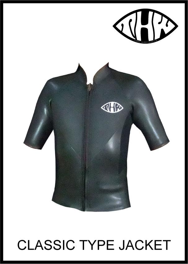 【どこよりも早いお届け】thw wetsuits【フロントジップジャケット】半袖タッパー【クラシックウェットスーツ】レディースあり