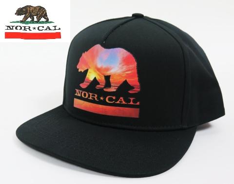 【NOR CAL】 ノ―カル CAP/SUNSET BEAR ブラック/FREEサイズ