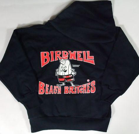BIRDWELL 【バードウェル】 KIDS ZIPパーカー(子供用) ブラック/BACK 定番