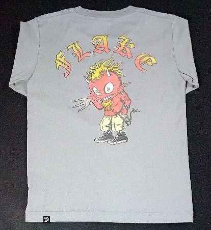 【FLAKE】フレイク 【ロンT】ロングスリーブシャツ グレー/130cm
