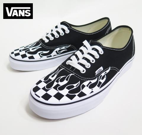 【VANS】  AUTHENTIC  CheckerFlame/BLACK