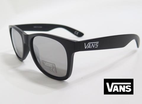 【VANS】 サングラス BLACK/SILVER MIRROR USA企画商品